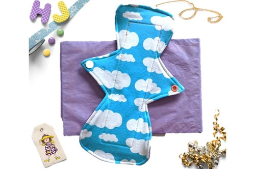 Click to order  10 inch Cloth Pad Turquoise Clouds now