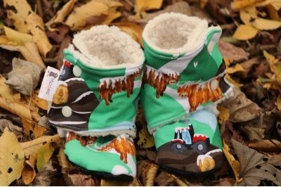 Click to order custom made Sherpa Stay on Booties