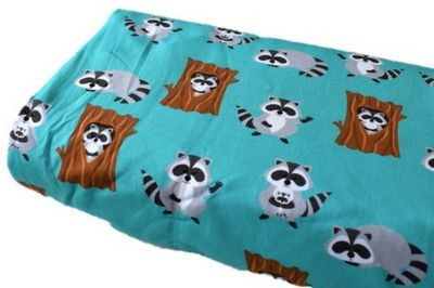 Click to order custom made items in the Woody Raccoons (French Terry) fabric