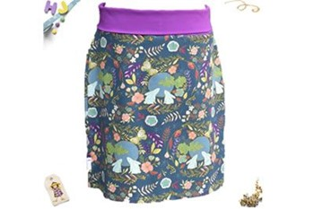 Pencil Skirt in Moon Gazing Hares with purple