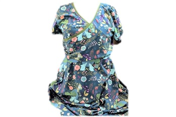 Moon Gazing Hares Juice Ruche Skater Dress Bodice